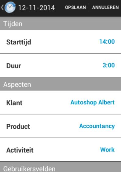 Tijdregistratie app