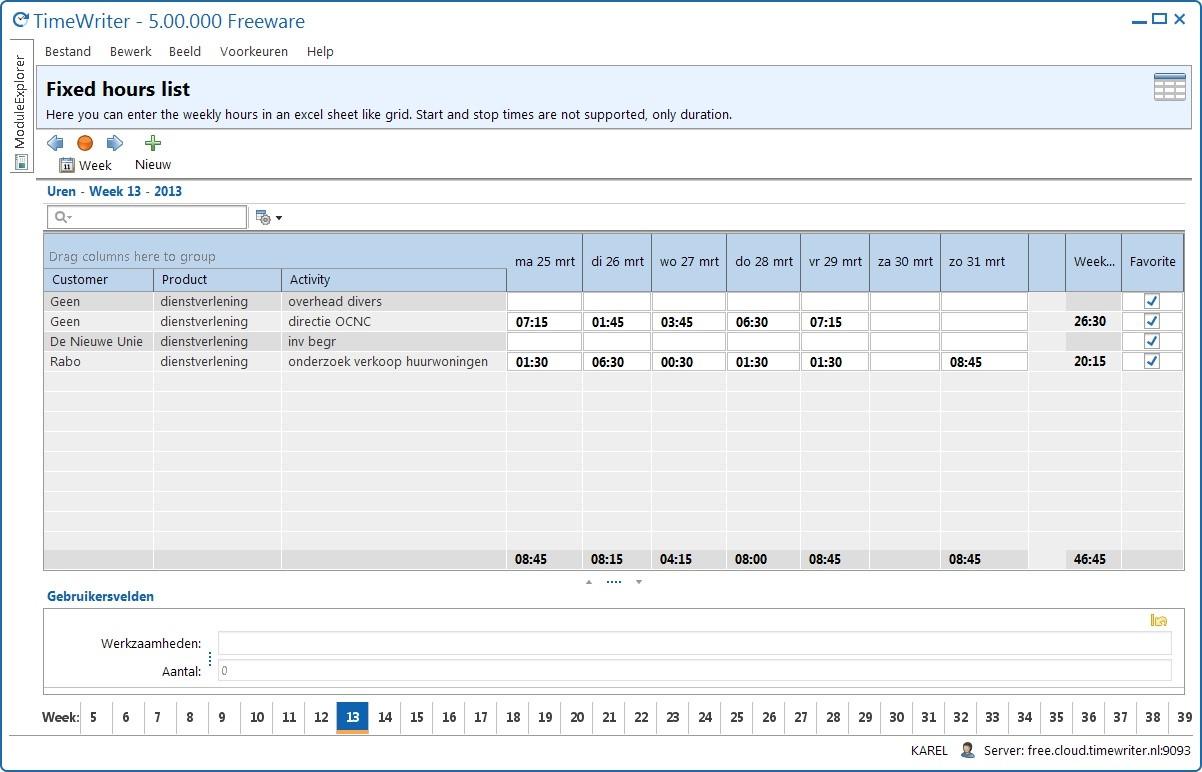 Tijdregistratie software